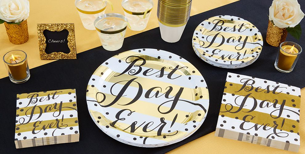Best Day Ever Wedding Tableware