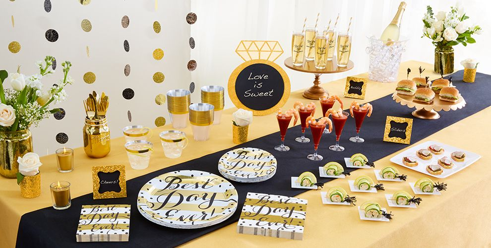 Patterned Tableware 50% off MSRP — Best Day Ever Wedding Tableware