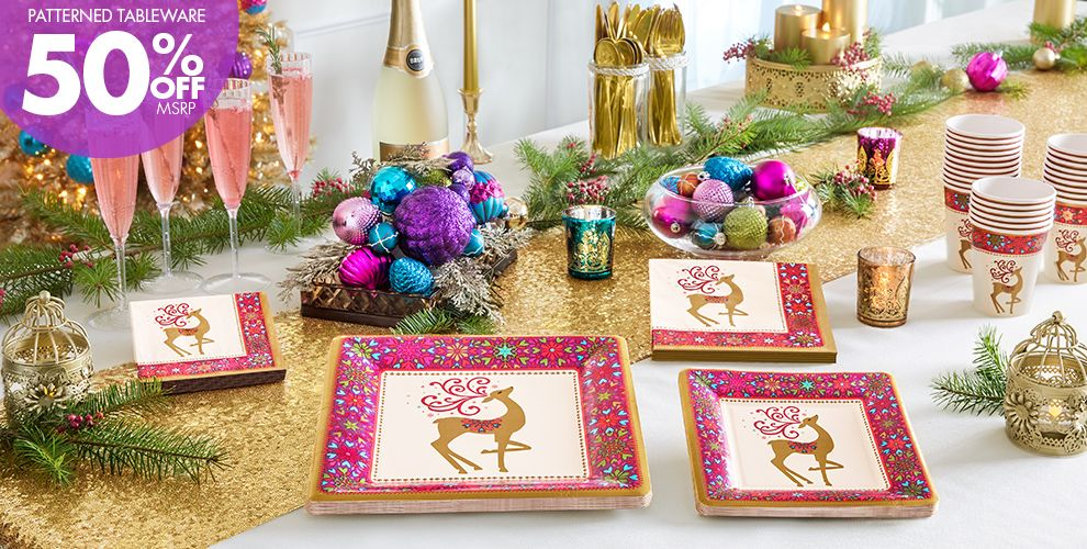 Whimsical Winter Deer Party Supplies