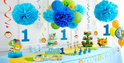 Blue One is Fun 1st Birthday Party Supplies 1st Birthday Party