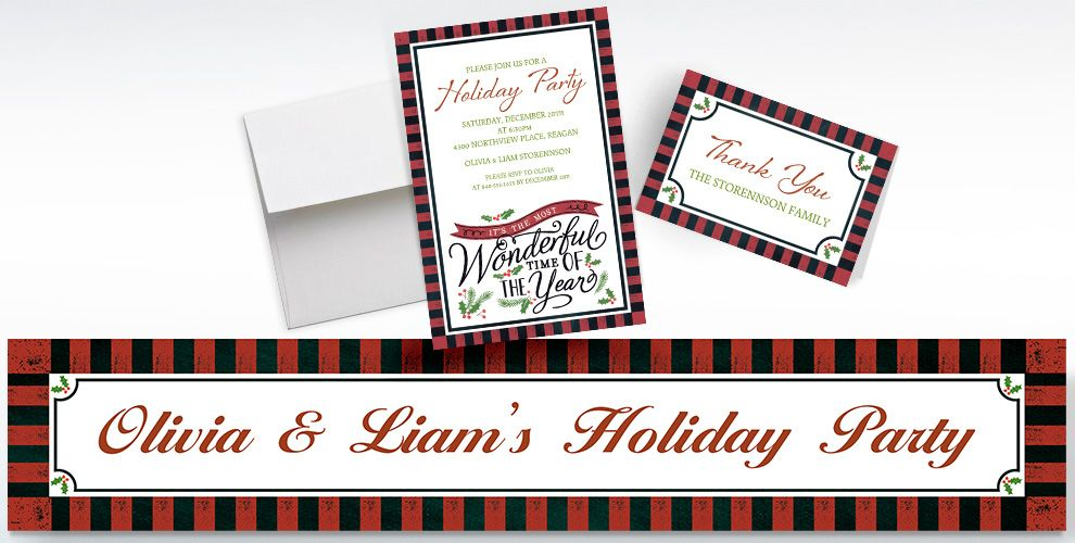 Custom Most Wonderful Time Invitations, Thank You Notes & Banners ...