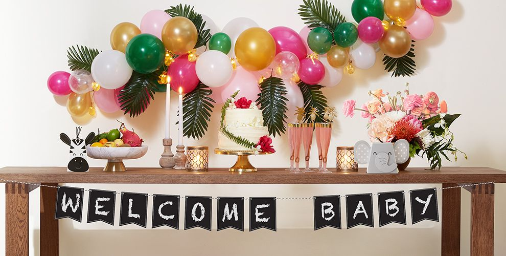 Tropical Baby Shower Party Supplies