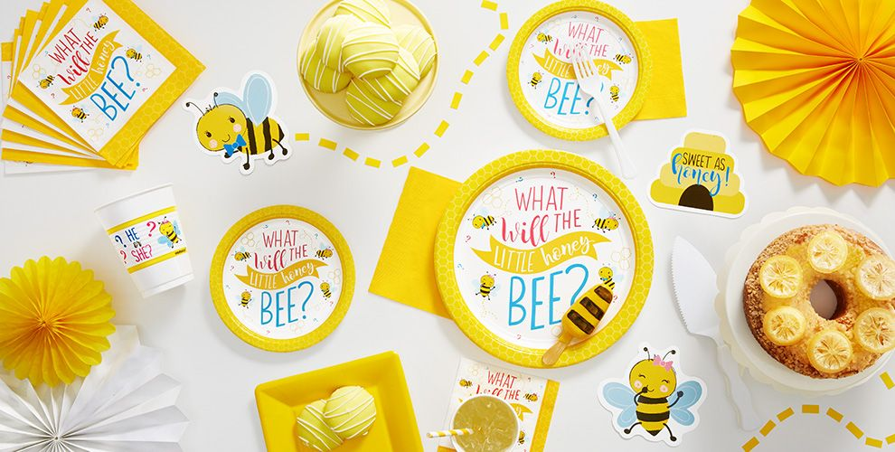printable decorations ideas baby bee food shower theme babybeethemepack bumble