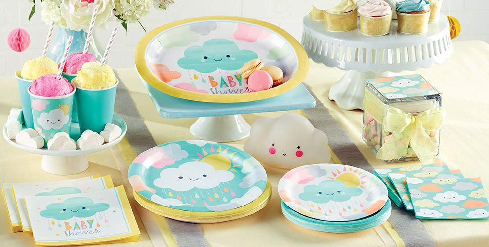Happy Clouds Baby Shower Party Supplies