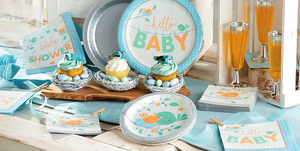 Hello Boy Baby Shower Supplies