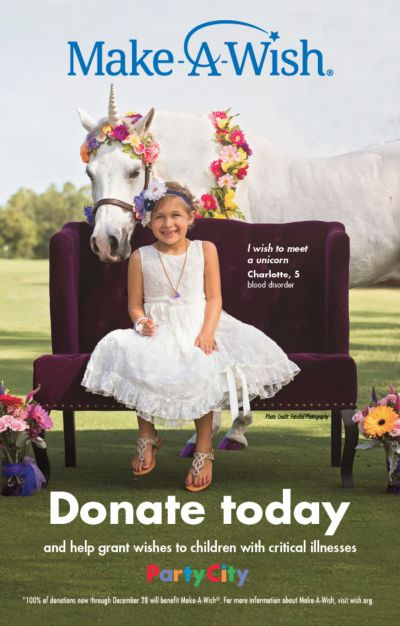 Donate today and help grant wishes to children with critical illnesses