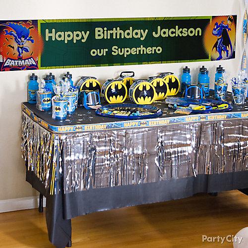 Batman Favor Table Idea