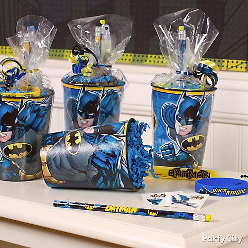 Batman Favor Cup Idea