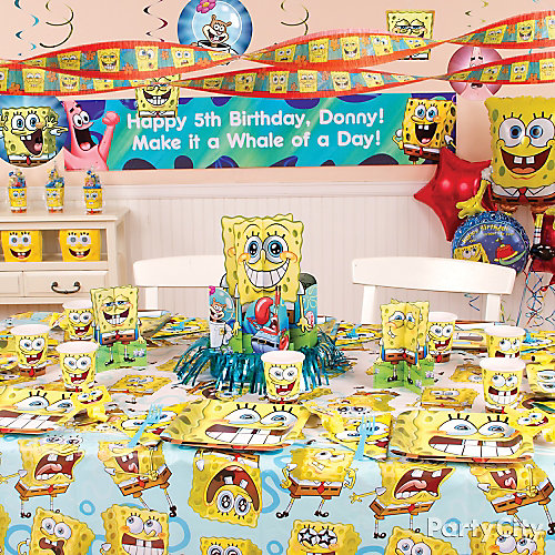 SpongeBob Party Room Idea