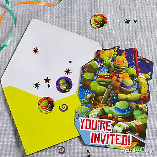 TMNT Invite with Surprise Idea