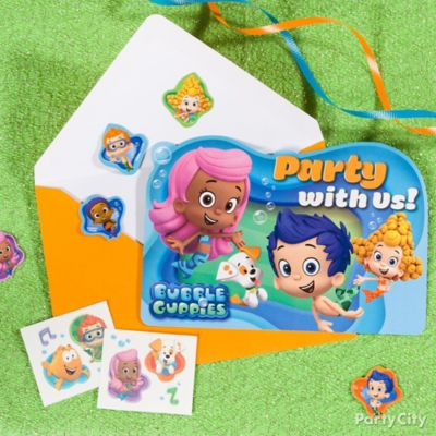 Bubble Guppies Invitations with a Surprise Idea Party City Party