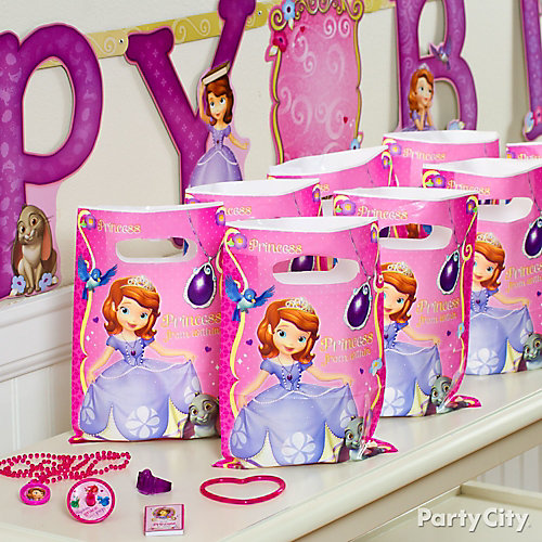 Sofia the First Favor Pack for 8 Idea