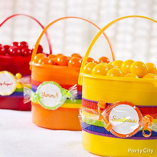 Rainbow Candy Centerpieces Idea