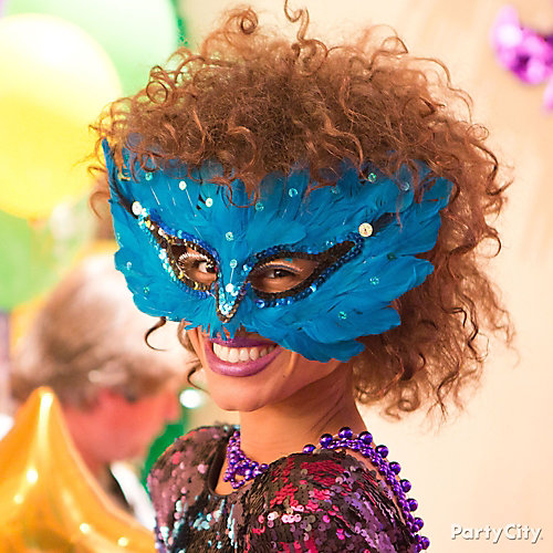 Mardi Gras Sexy Feather Mask Idea