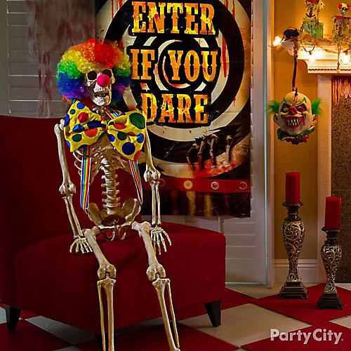 Halloween Rainbow Clown Skeleton Idea
