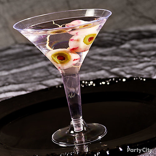 Halloween Classic Eyeball Martini Cocktail Recipe