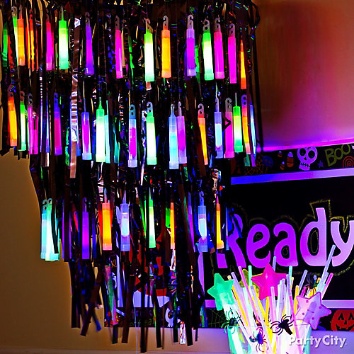 Glow Stick Chandelier Idea