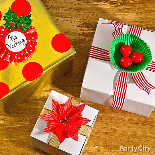 Baking Cup Gift Wrap DIY