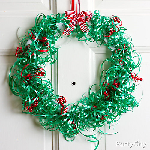 Christmas Ribbon Wreath DIY