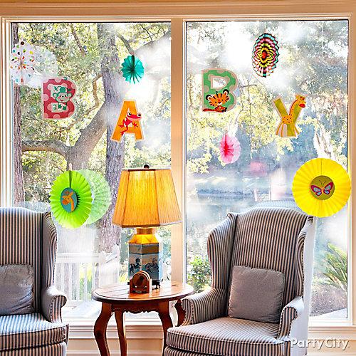 Jungle Baby Shower Window Idea