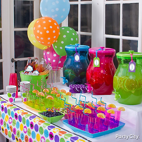 Colorful and Fruity Drinks Table Idea - Colorful Graduation Party ...