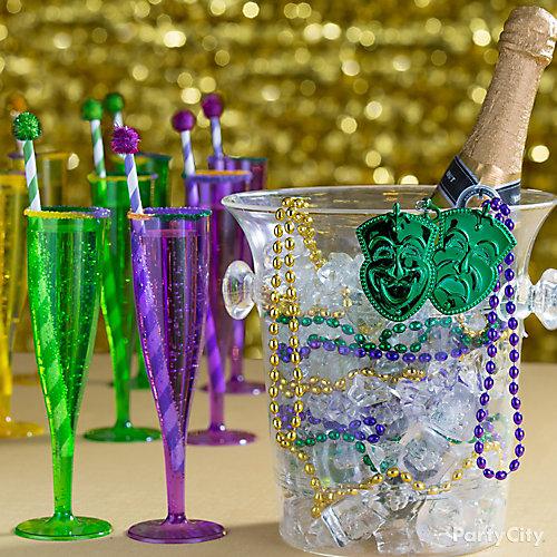 Beaded Champagne Bucket Idea
