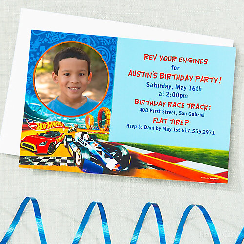Hot Wheels Custom Invite & Thank You Idea