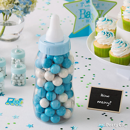 Blue Baby Shower Candy Game Idea