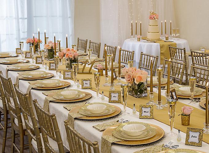 Gold Glam Wedding Reception Ideas