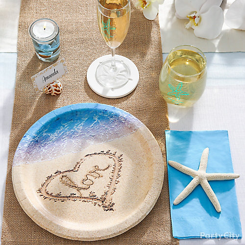 Beach Love Table Setting Idea