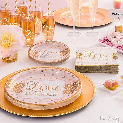 Sparkling Bridal Shower Place Setting Idea
