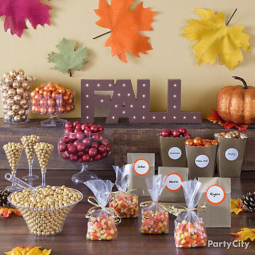 Fall Candy Buffet Table Idea