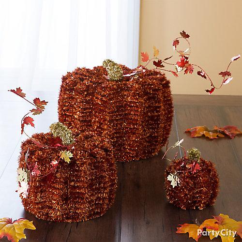 Tinsel Pumpkins Idea