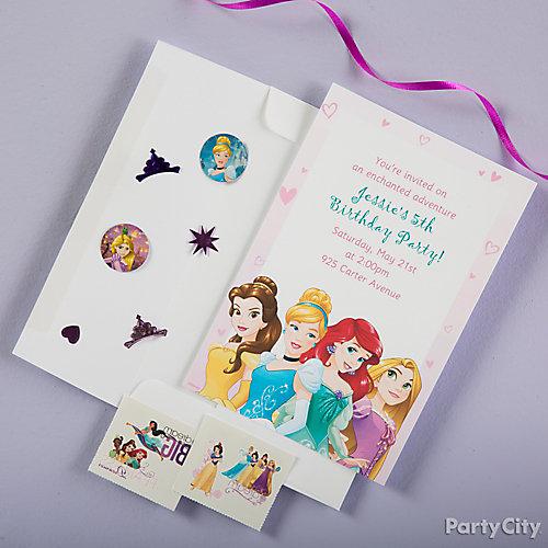 Disney Princess Invite with Surprise Idea