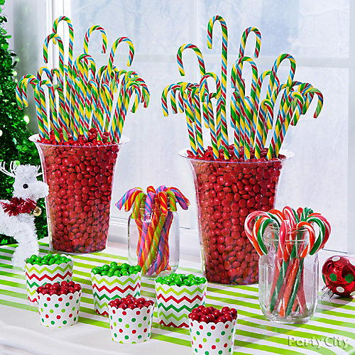 Colorful Candy Canes Centerpiece DIY