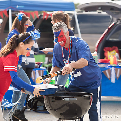 Tailgating Team Colors Chafing Dish Idea
