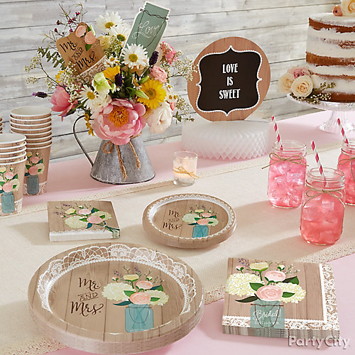 Simply Rustic Table Setting  sc 1 st  Party City & Simply Rustic Table Setting - Party City | Party City