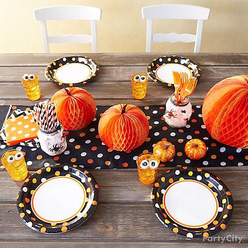Halloween Dinner for Kids Tablescape
