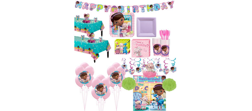 Doc McStuffins Tableware Ultimate Kit For 16 Guests