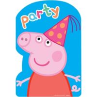 Peppa pig party supplies peppa pig birthday party city peppa pig invitations 8ct stopboris Image collections