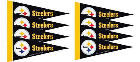 Nfl pittsburgh steelers party supplies party city pittsburgh steelers pennants 8ct filmwisefo Gallery