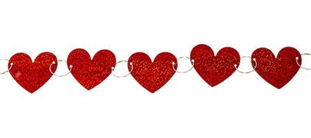 prismatic heart ring garland