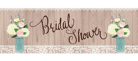 giant rustic bridal shower banner 60in x 20in party city