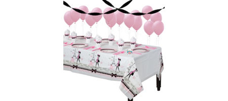 Pink Paris Basic Party Kit For 8 Guests