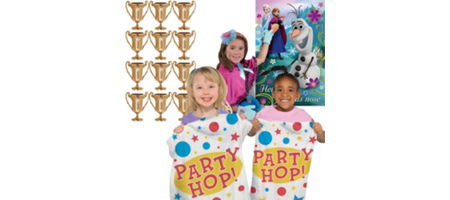 Frozen party supplies frozen birthday party ideas party city frozen fun games kit stopboris Image collections