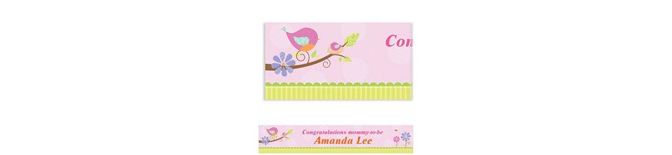 Custom Tweet Baby Girl Baby Shower Invitations Thank You Notes