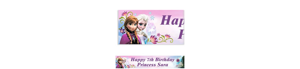 Frozen party supplies frozen birthday party ideas party city custom frozen banner 6ft stopboris Image collections