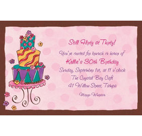 Custom girly cake birthday invitations party city custom girly cake birthday invitations filmwisefo