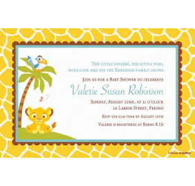 Custom lion king baby shower invitations party city custom lion king baby shower invitations filmwisefo Gallery