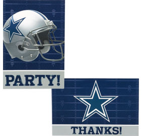 Nfl dallas cowboys party supplies decorations party favors dallas cowboys invitations thank you notes for 8 filmwisefo